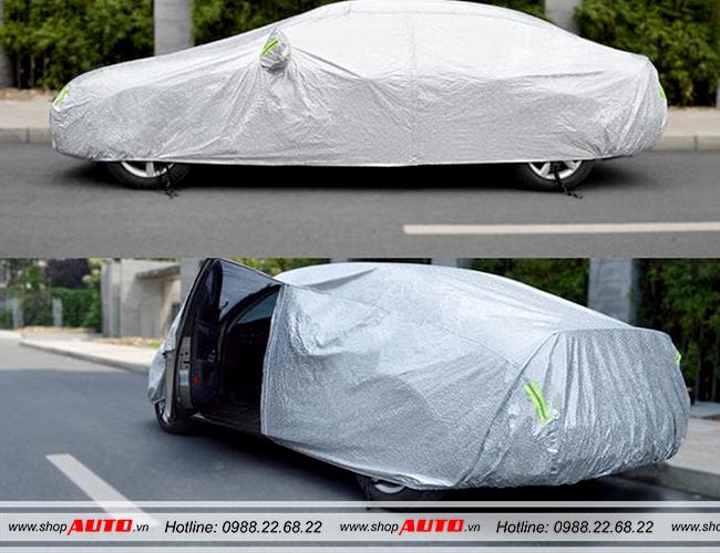 Bạt phủ xe ô tô tráng nhôm cách nhiệt cho xe Ford Fiesta