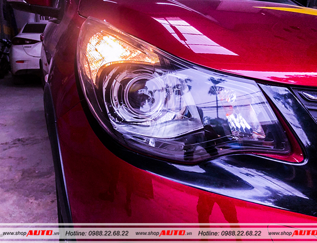 Bi led pha cos X-Lighting cho xe Mazda CX9