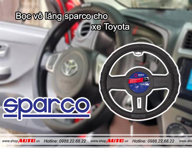 Bọc vô lăng sparco cho xe Toyota