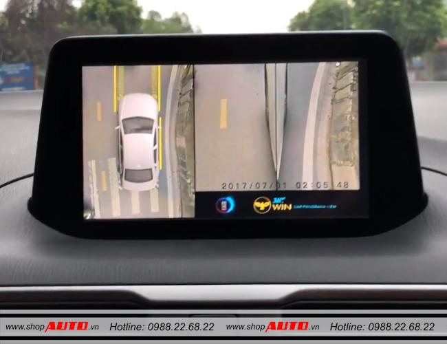 Chế độ hiển thị 2 bên của camera 360 độ