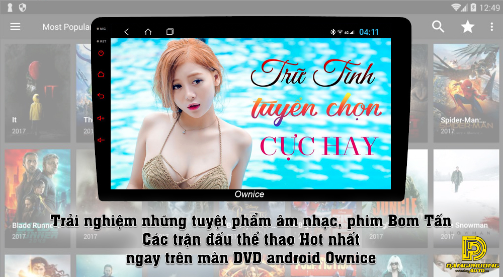 Đầu DVD Android Ownice C960 cho xe ô tô Kia Carens