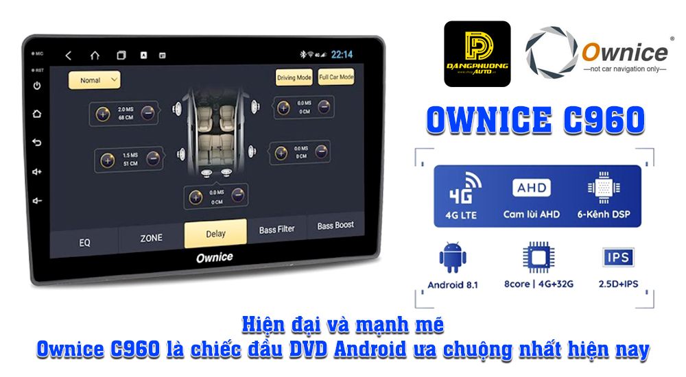 Đầu DVD android Ownice C960 xe Toyota Corolla 2019