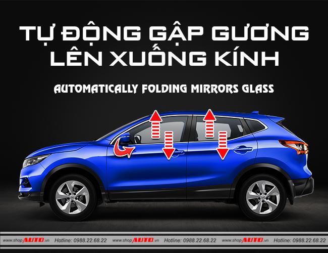 Gập gương lên kính tự động cho xe Honda Civic