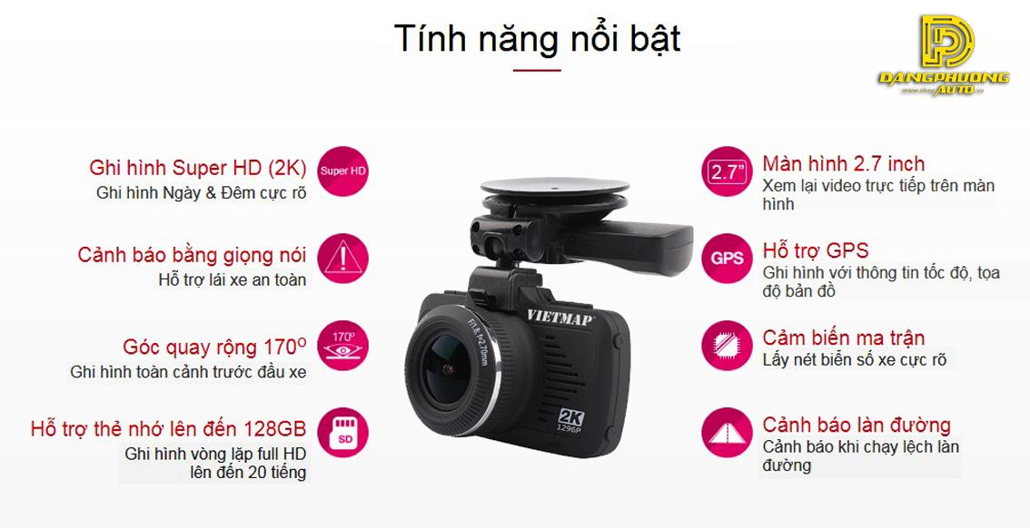 Camera hành trình Vietmap K9 Pro siêu HD 2K