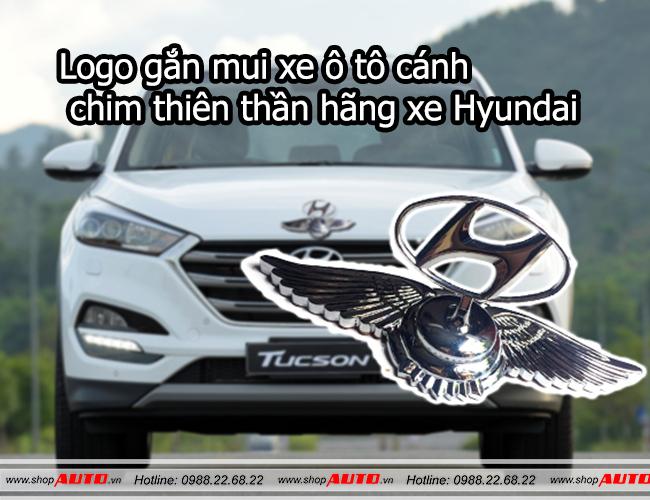 logo gắn mũi xe ô tô cách chim thiên thần hãng xe Hyundai