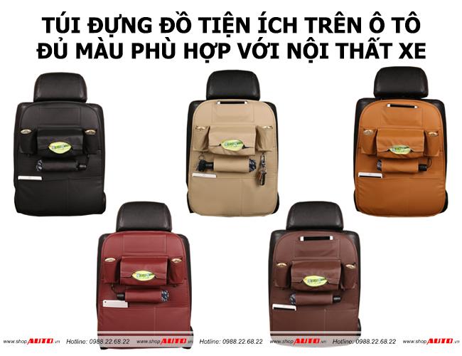 Túi đựng đồ xe ô tô mẫu mã đa dạng nhiều màu sắc