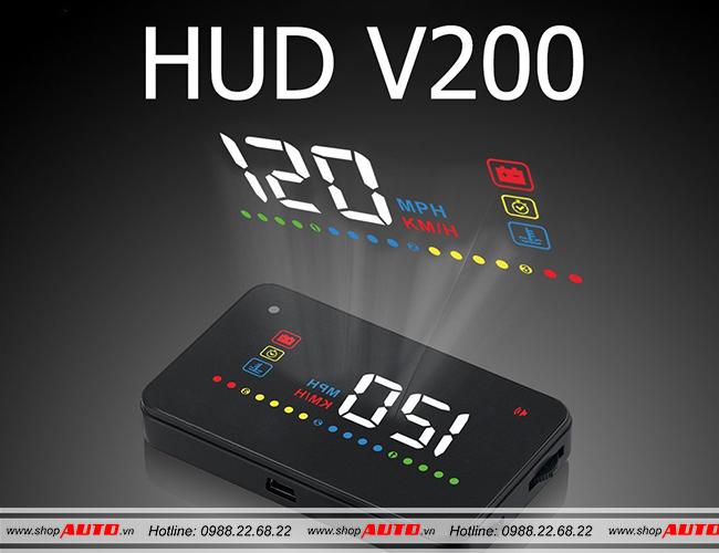 Thiết bị hiển thị tốc độ HUD V200 ô tô Mitsubishi Triton
