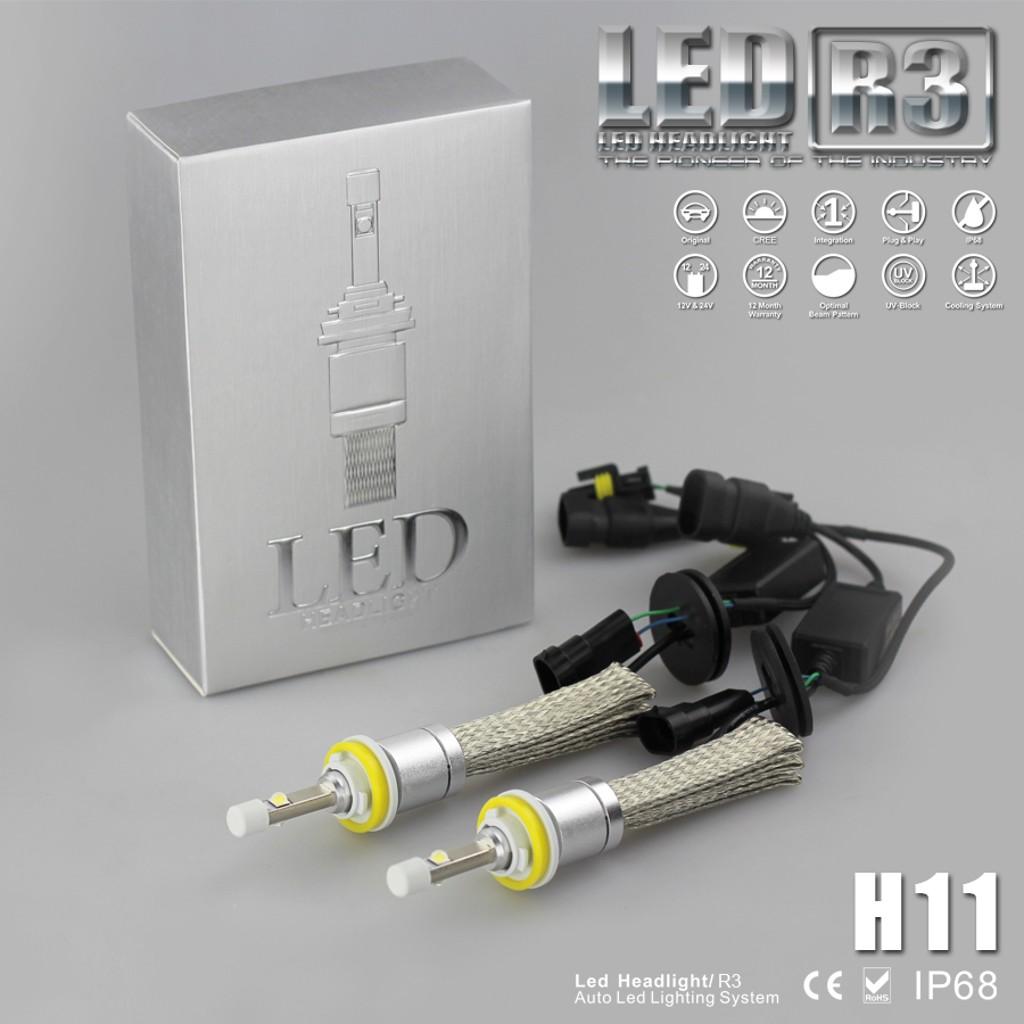 Đèn LED Headlight R3 chân H11